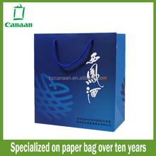 Fashionable discount cement paper shopping bag