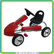 Kids Go Kart Ride On Car With Pedal Rubber Wheels Adjustable Seat New