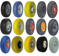 flat free tire 4.00-8 wheel barrow wheels 300mm rubber wheels
