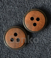 custom garment natural wooden buttons