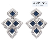 latest xuping fashion special design earring made with crystals from Swarovski elements