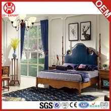 Antique style luxury bedroom furniture hand carved latest wooden double bed designs