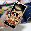 High quality hard cover for iphone mobile phone cases skull painting protective