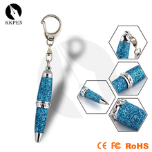 SHIBELL mini crystal keychain metal ball pen
