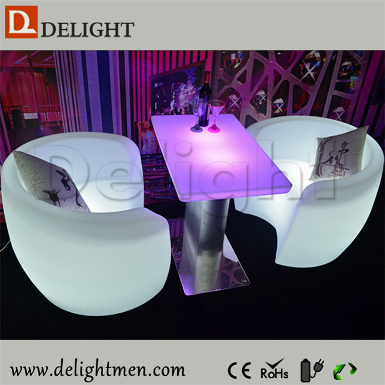 Comfortable Big Round Light up Led Indoor Single Sofa
