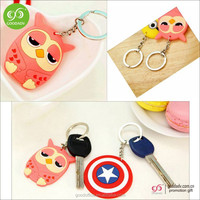 Wholesale Custom New Promotional Gifts 3D Logo Soft PVC Key chain