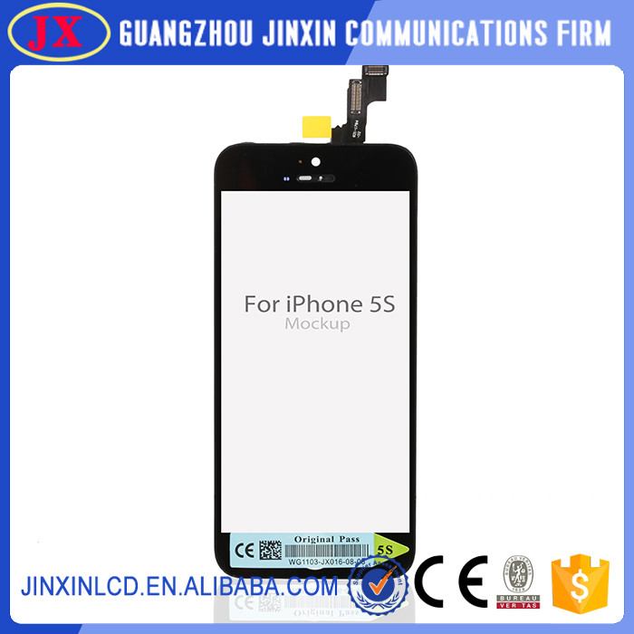 Oem replacement back cover touch digitizer lcd display for iphone 5s