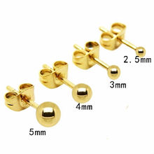 Studex Ear Piercing Gold Plated Stainless Steel Ear Stud Ball Earrings