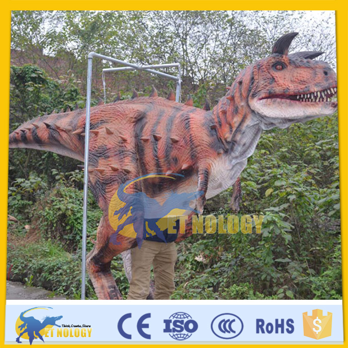 CET-N-231 Cetnology Inflatable animatronic red silicone Carnotaurus dinosaur costume for adults