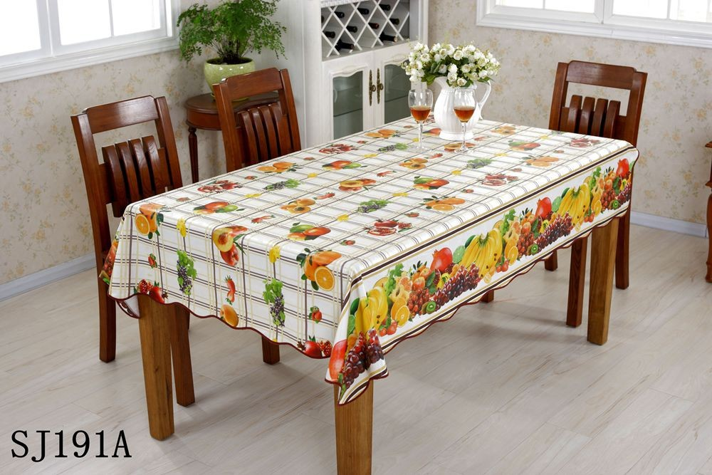 non woven fabric pvc table cloth printed table cover