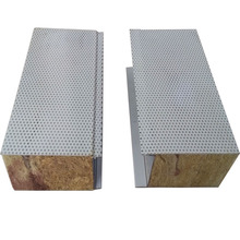 Best quality rock wool sandwich acoustic wall panel with low price