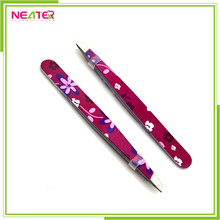 Dumont rubber tipped stainless steel fashion eyebrow tweezers