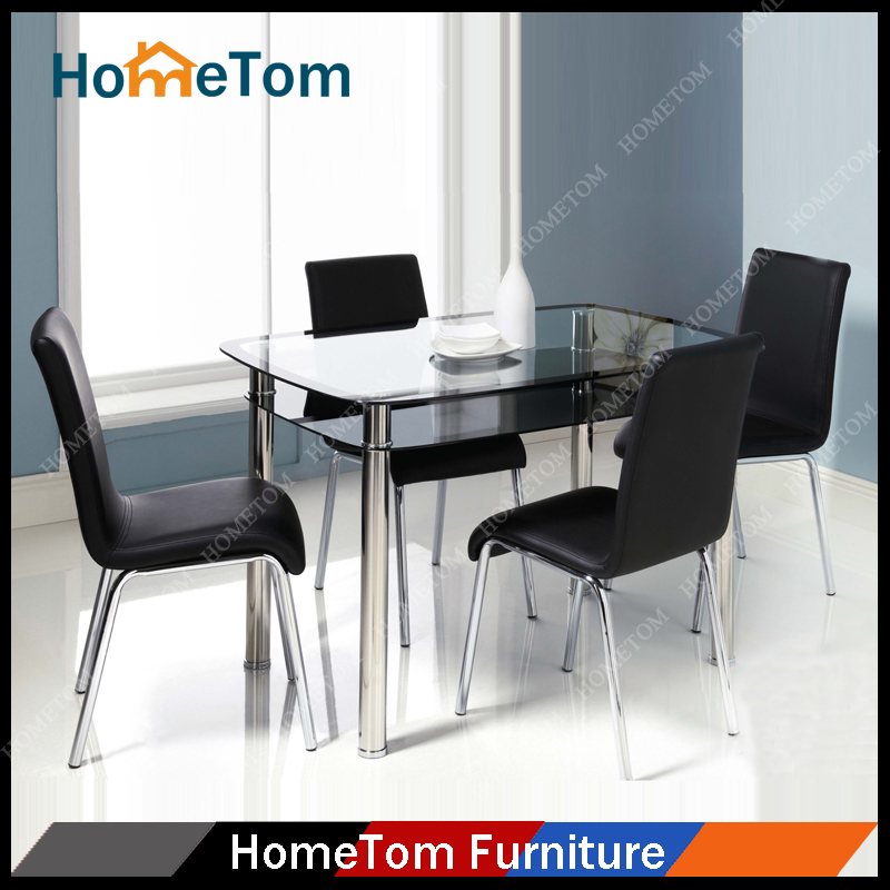 dining room furniture metal glass dining table and chair buy dining