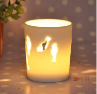 Ceramic candle cup with bird new hot 2016