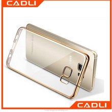 OEM Phone Case Soft Transparent TPU Colorful Electroplating Bumper Phone Case for Samsung S6 S7