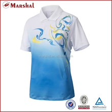 Women t shirt design,dry fit sublimation badminton uniforms