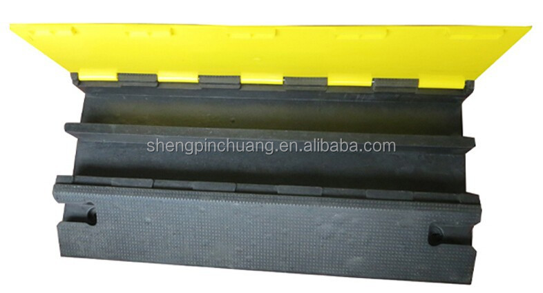 two Channel rubber cable speed hump