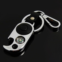 Promotion bottle opener flashlight keychain, stainless steel LED light keychain, gifts keychain with opener and compass