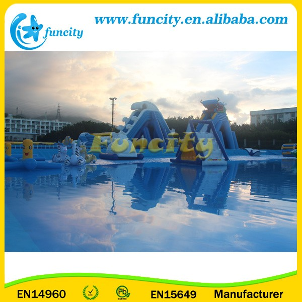 Factory Price Giant Inflatable Water Park Game With Funnny Water Slide Toys
