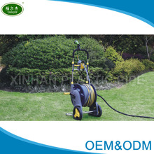 Ningbo high quality cheap price garden water hose with reel cart for garden irrigation and car washing