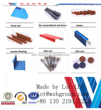 Hot sale in Asia market galvanised steel/ aluminium/ pvc gutter flashing ISO approved for rain collection system