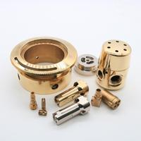 Nickle Plating 5 Axis Milling Turning Copper Bronze Brass CNC Machining Parts Service