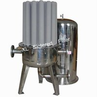 Water treatment backwash filter unit