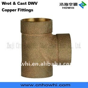 CAST DWV COPPER FITTINGS TEE - C x C x F