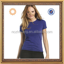 Wholesale Womens T-shirts Womens Fitted T-shirts Women Fitted Blank Cotton Spandex T-shirts