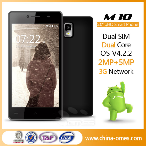China Mobile 5'' MTK Android 4.4 Used Mobile Phone