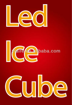 flashing led ice cubes for Night Club & Event & Party Decorations
