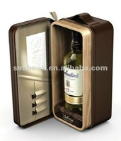 New design leather wine bottle carrier