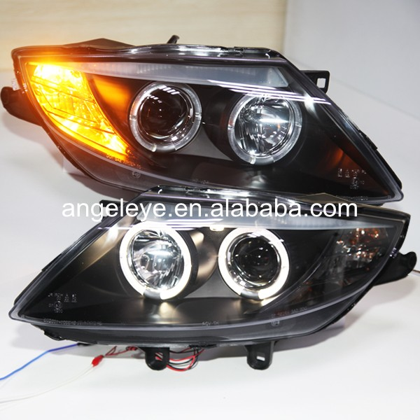 For BMW E85 Z4 Angel Eyes Head Lamp headlights 2003--2008 year for original car with HID kit SN