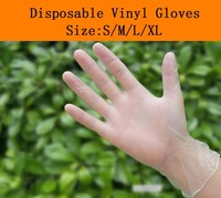 Medical disposable hand gloves for supermaket vinyl gloves pvc gloves powder free/powdered