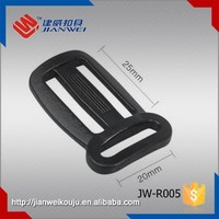 Durable plastic tri-glide adjustable buckle, belt buckle JW-R005