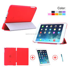 Hot selling PC Back Case Leather Smart cover for ipad Mini2 , for iPad Mini 2 case leather