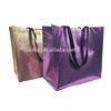 luxury metallic rose gold non woven tote Hand shopping bag