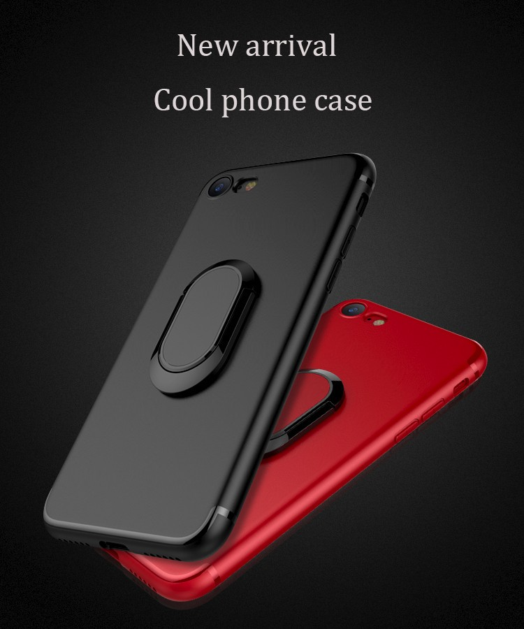 Trending phone case High quality Rotating Ring Bracket back cover Metal holder TPU Phone case for iphone 6,7,plus