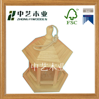 New design natural color wooden mini bird house best toys for kids sparrow house
