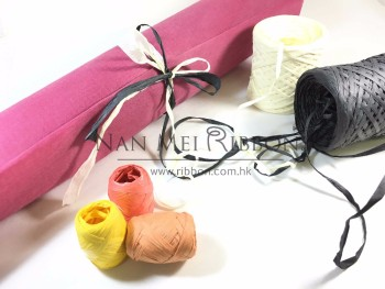 BSCI FSC certificate Kraft Supplies Arts and Crafts Colored wholesale free sample Raphia Natural Paper Rope Ribbon Paper Raffia