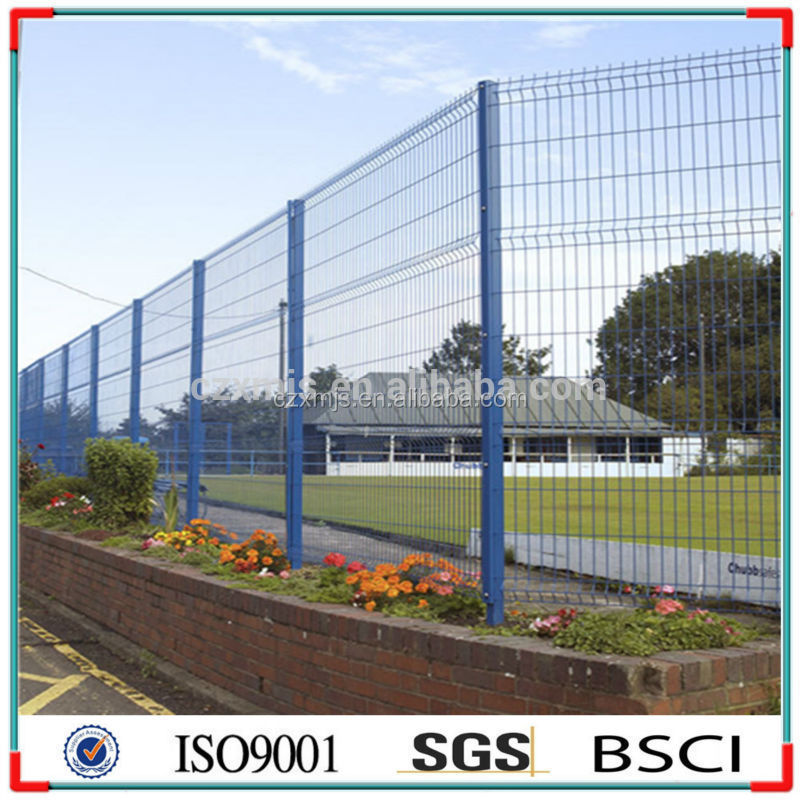Fence 3d models wrought iron with pvc coated soccer fence for 3d fence