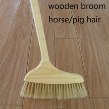 cleaning tool wooden nature pig hair broom for home lady