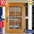 Top Grade Double glazing Aluminum & Wood Composite Hinges Window