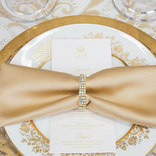 Golden Royal Feel Satin 17 X 17 Or 20 X 20 Table Use Lunch Napkin