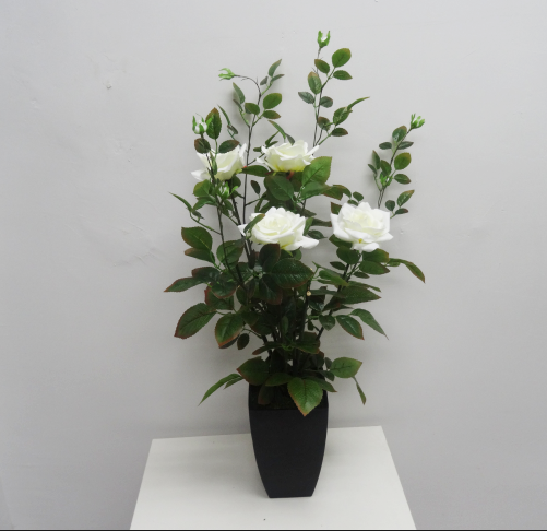 Beautiful white rose bush artificial rose flower factory wholesale colorful flower