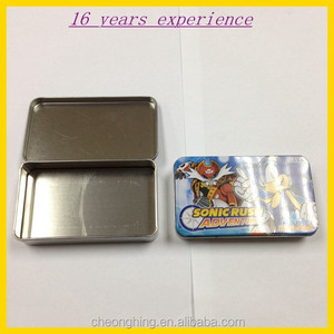 Wholesale rectangular food tin box with hinged lid or not