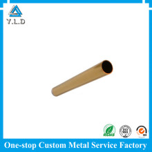 TOP Aluminum Profile Factory Customized Gold Anodized Precision Cutting Aluminum Tubes
