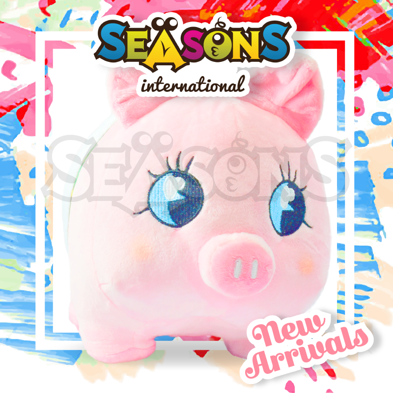 Scandinavian style most popular high quantity inflatable toys squishy cartoon character piggy bank
