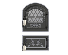 East Europe Cast Iron wood burning Stove Fire Door