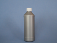 500 ml. Silver Plastic Round Bottle with white aluminum foiled cap